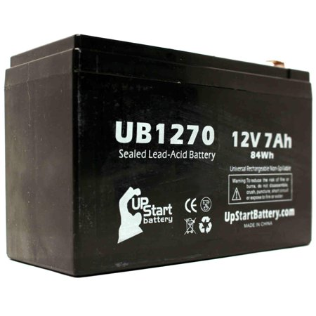 APC BACK-UPS ES 8 OUTLET 650VA BE650R Battery Replacement - UB1270 Universal Sealed Lead Acid Battery (12V, 7Ah, 7000mAh, F1 Terminal, AGM, SLA) - Includes TWO F1 to F2 Terminal Adapters - image 1 de 4