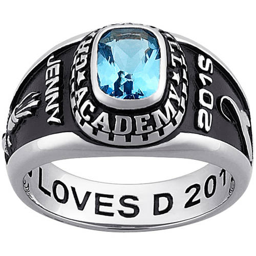 Personalized Girl's Platinum-Plated Celebrium Traditional Class Ring