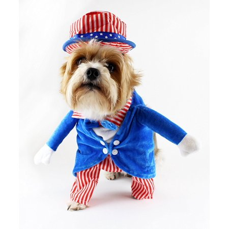 Uncle Sam 4th of July Fake Arms Dog Costume by Midlee - Sam And Cat Halloween Full