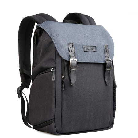 Inateck Anti-Shock DSLR/SLR Mirrorless Camera Water-Resistant Backpack with Laptop Compartment, Rain Cover, Tripod Holder Compatible Nikon, Canon, Olympus, Sony, Fuji, (Best Fuji Mirrorless Camera)
