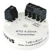 NOVUS TxIMiniBlock Pt100 Transmitter, 4-20 mA Loop Powered