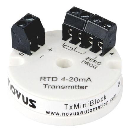 Novus Tximiniblock Pt100 Transmitter  4 20 Ma Loop Powered