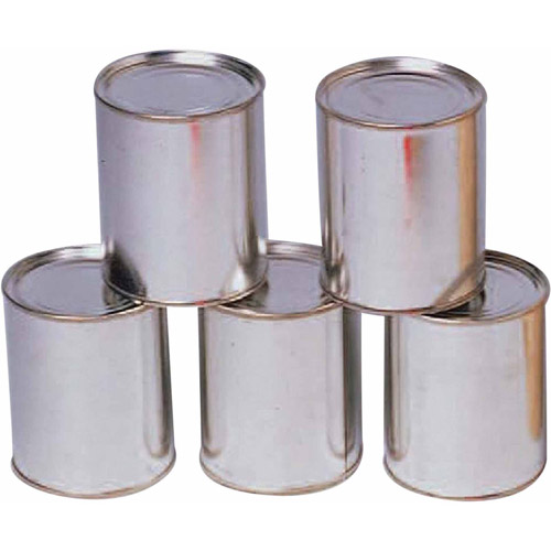 Knock Down Metal Cans, Pack of 12