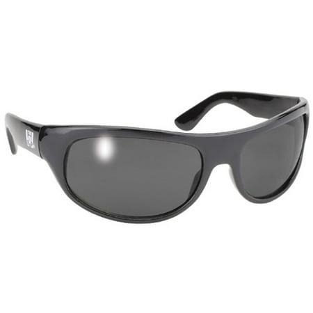 Pacific Wrap (Pacific Coast 207  Pacific Coast Wrap Sunglasses - Black Frame / Smoke Lens )