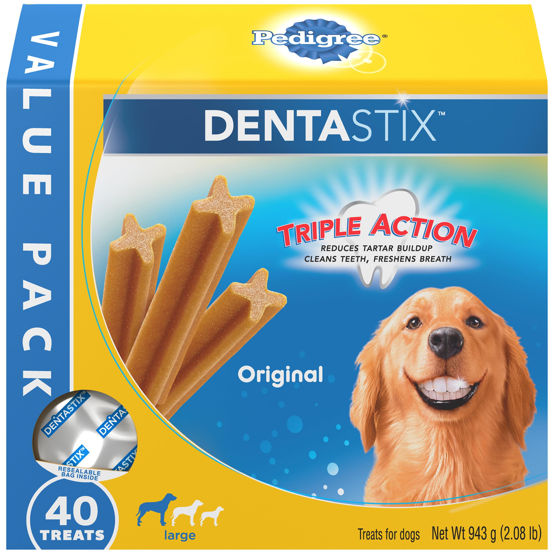 PEDIGREE DENTASTIX Original Large Treats for Dogs - Value Pack 2.08 Pounds 40 Treats
