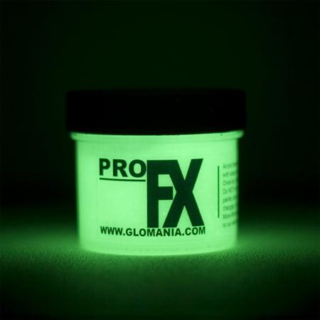 ProFX GID GREEN Glow in the Dark Acrylic Paint-1oz (Halloween Glow In The Dark Face Paint)