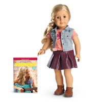 """American Girl Retired Tenney Grant 18"""" Doll With Clothing and Book"""