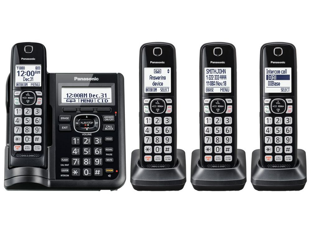Cordless Telephone in black by Panasonic