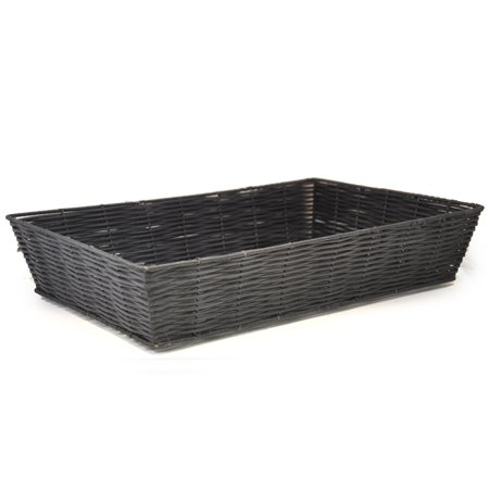 Rectangular Synthetic Wicker Tray - Large (Wicker Basket Trays)