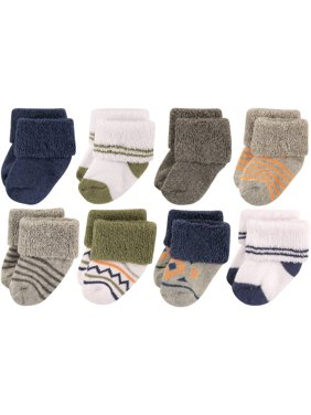 Baby Boys' Newborn Terry Socks 8-Pack