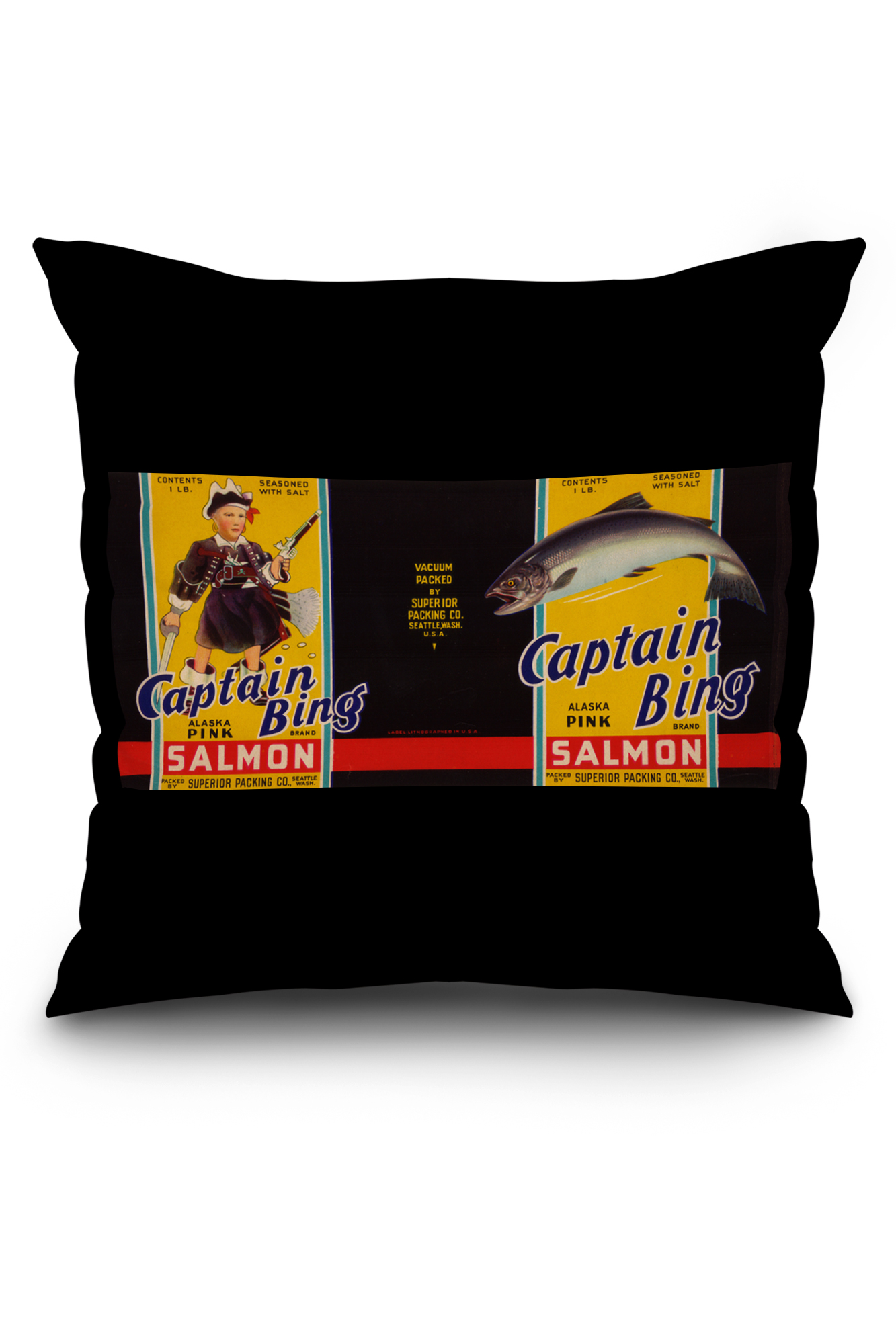 Www Bing Comseattle143 305 70: Captain Bing Brand Salmon Label