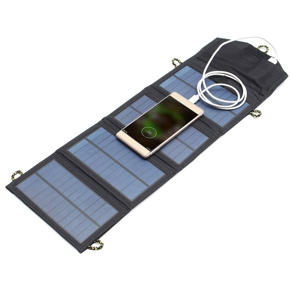 7W Solar Charger Folding Mono Solar Panel USB Battery Charger For Mobile Phone