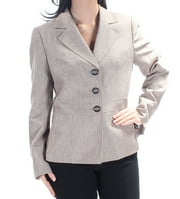 LE SUIT Womens Brown 3 Buttons Long Sleeve Blazer Wear To Work Jacket  Size: 6
