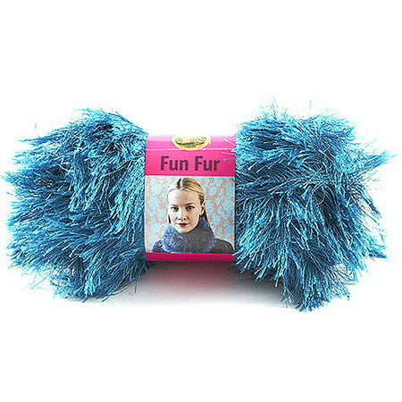 Lion Brand Fun Fur Yarn, Available in Multiple (Yarn Deep Rose)