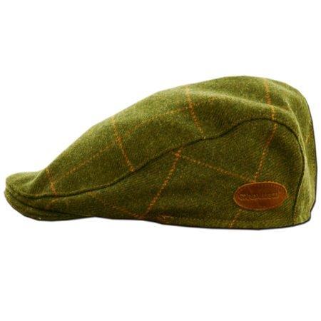 Classic Irish Tweed Cap. Traditional Irish Flat Cap from Donegal, Green, Small