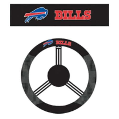 Fremont Die- Inc.  98523 Poly-Suede Steering Wheel Cover - Buffalo Bills