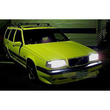 - 1993-1997 Volvo 850 Bright White Upgrade Light Bulbs for Headlamps Headlights Head Lamps Lights