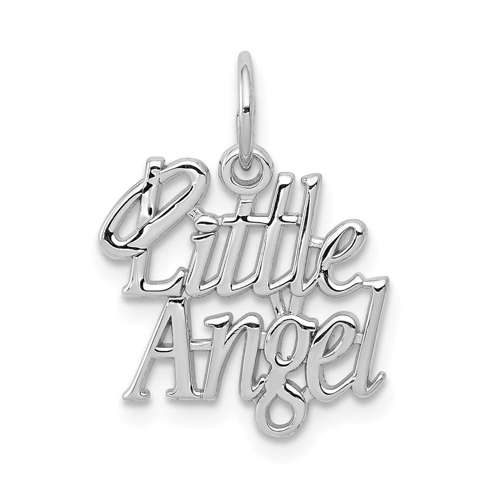 14k White Gold Little Angel Charm Pendant