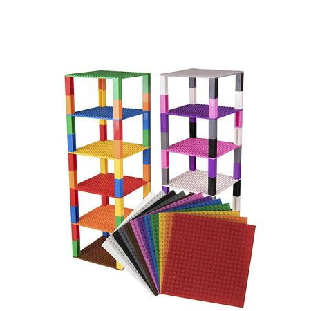 - Strictly Briks Brik Tower Brick Construction Building Set - 12 Baseplates (6