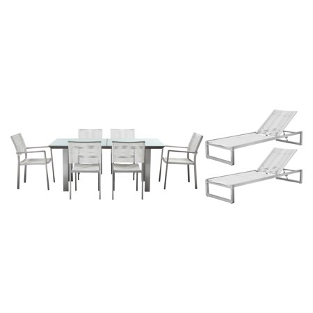 Pangea Home Bella Aluminum 9 Piece Patio Set ()