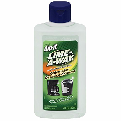 Lime-A-Way Dip-It Coffeemaker Cleaner, 7 fl oz Bottle, Descaler & Cleaner for Drip & Single Serve Coffee Machines (Pack of 4)