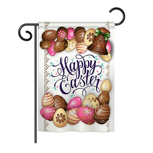 Breeze Decor Sweet Chocolate Easter 2-Sided Polyester Garden Flag
