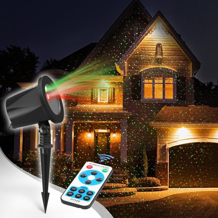 CHRISTMAS HOLIDAY LASER LIGHTS PROJECTOR RED AND GREEN OUTDOOR WATERPROOF REMOTE CONTROL ()