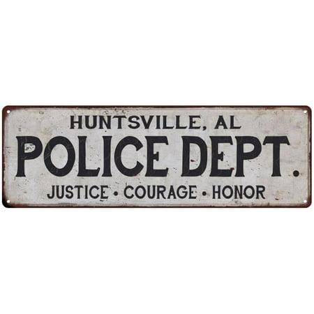 Halloween Store Huntsville Al (HUNTSVILLE, AL POLICE DEPT. Vintage Look Metal Sign Chic Decor Retro)