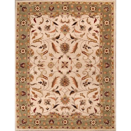 RugSource Hand-Tufted Floral 10x13 Oushak Oriental Large Area Rug Wool