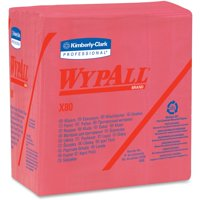 Wypall, KCC41029, X80 Folded Red Wipers, 200 / Carton, Red