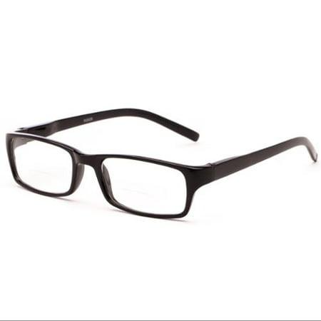 Readers.com Reading Glasses: The Vancouver Bifocal Reader, Plastic Rectangle (Rectangle Frame Glasses)