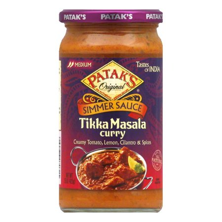 Patak's Cooking Sauce Tangy Lemon & Cilantro *Tikka Masala*, 15 OZ (Pack of 6)