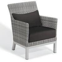 Oxford Garden Argento Resin Wicker Patio Lounge Chair
