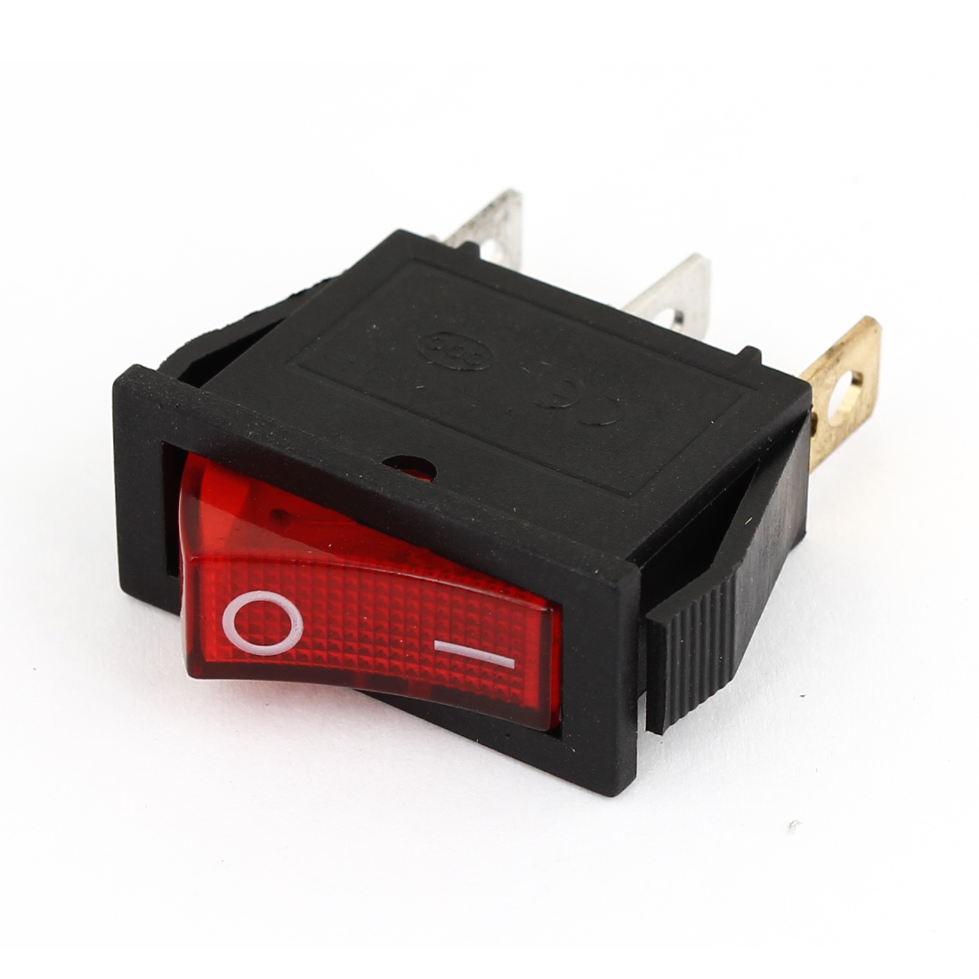 Red LED Lamp 2 Position ON/OFF Rocker Switch AC 15A/250V 20A/125V for Vehicle