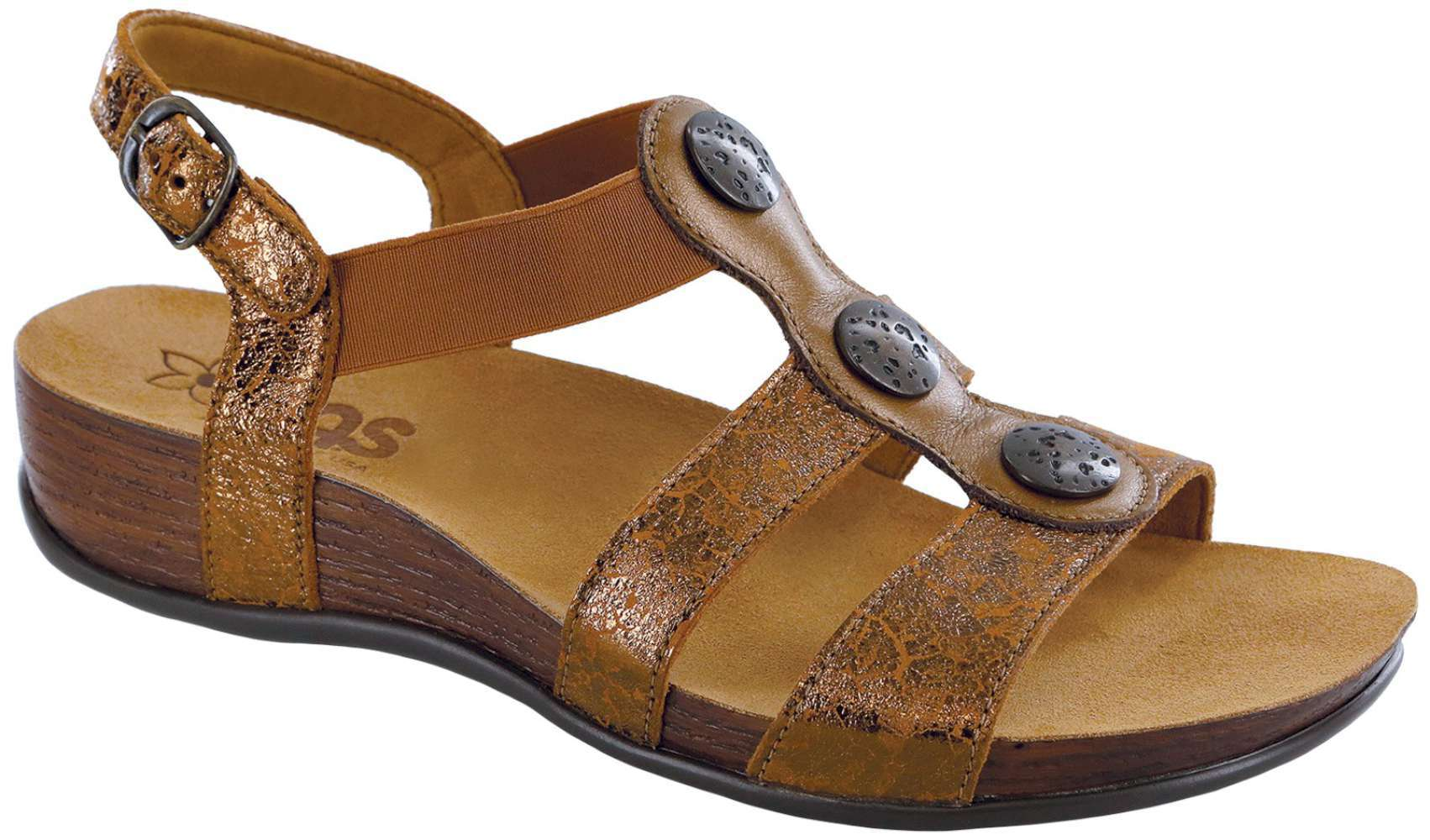 Sas Womens Toe Clover Open Toe Womens Casual Strappy Sandals df077d