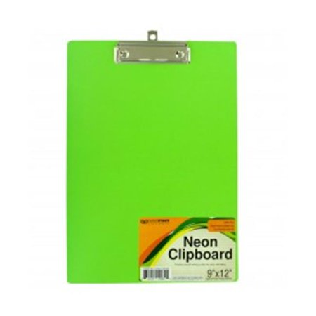 Bulk Buys GR143-64 Neon Clipboard with Steel Chrome Plated Clip (Mini Clipboards Bulk)