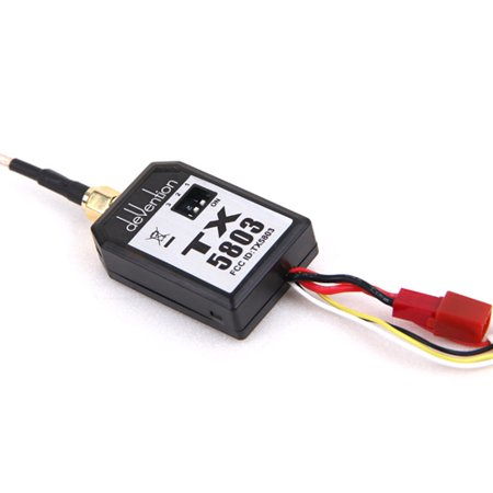 HobbyFlip 5.8GHz Video Transmitter 200mW FPV TX5803 Black Compatible with RC