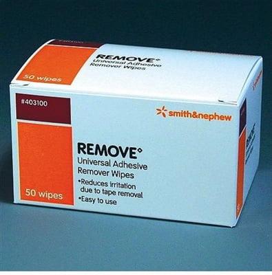 REMOVE Adhesive Remover Wipe, Adhesive Remover, Smith & Nephew 403100 - Box of 50