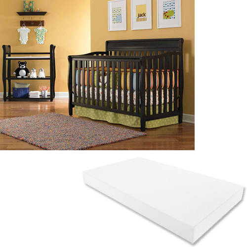 Graco Stanton 4-in-1 Convertible Crib and Mattress Value Bundle