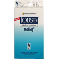 Jobst Medical Legwear Stockings Relief Compression Knee High 30-40 Mm/Hg, Open Toe Beige, Large - 1 Ea