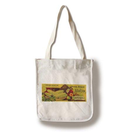 Home Sugar Corn Label  100  Cotton Tote Bag   Reusable