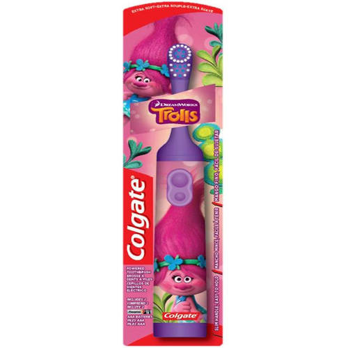 Colgate Kids Trolls Extra Soft Powered Toothbrush