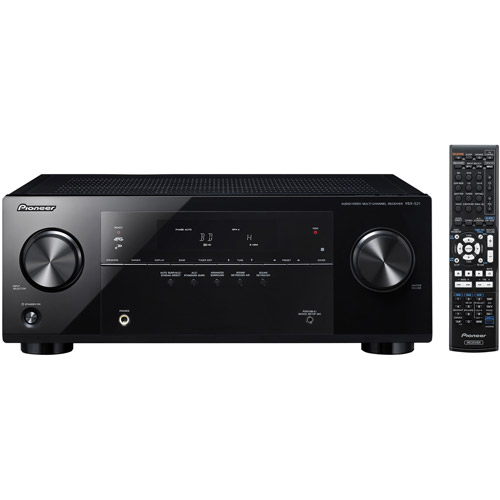 Pioneer VSX-521-K 5.1 Home Theater Receiver, Glossy Black...