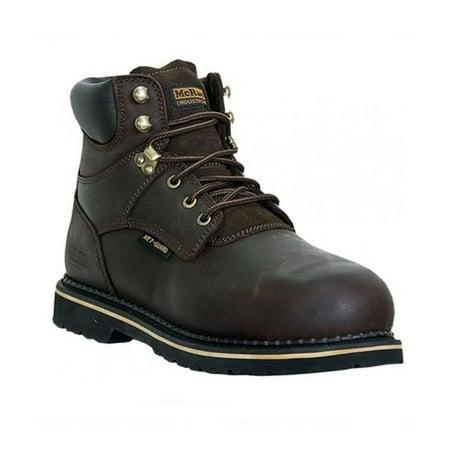 McRae Industrial Work Boots Mens Lacer Steel Toe MET Brown