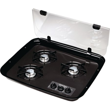 Suburban 2990A Flush Mount Glass Cover for 3-Burner Drop-In RV Cooktop
