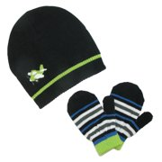 Toddlers Knit Hat and Mittens Winter Set