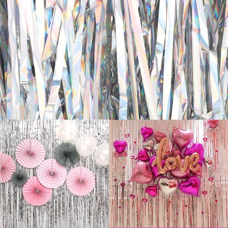 TSV Metallic Fringe Curtain Party Foil Tinsel Room Door Wholesale Wedding Home](Foil Fringe Curtain)