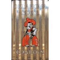 Oklahoma State Cowboys Corrugated Metal Sign