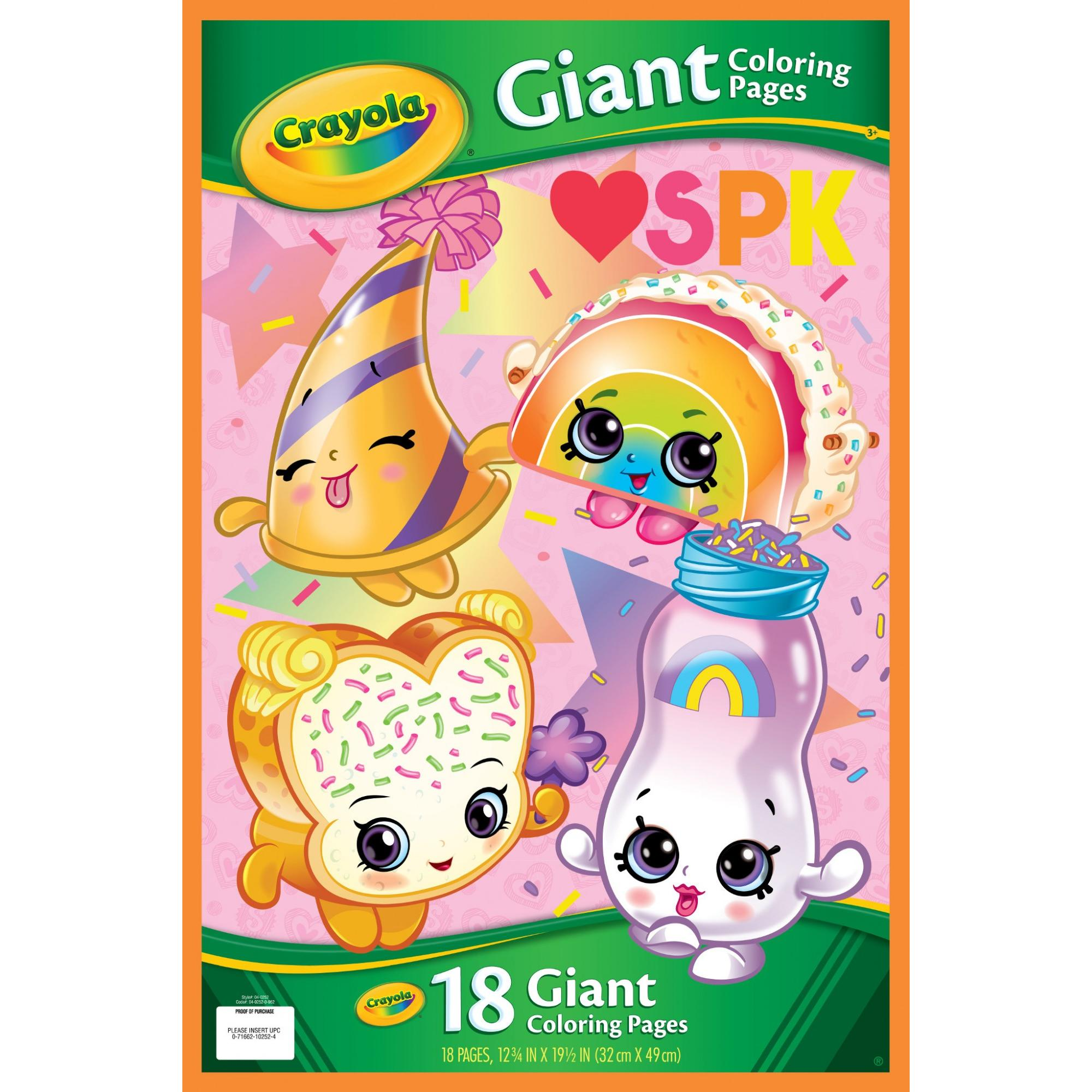 Crayola Shopkins Giant Coloring Pages Gift For Kids 18 Pages