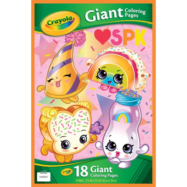 Crayola Shopkins Giant Coloring Pages, Gift for Kids, 18 Pages ...
